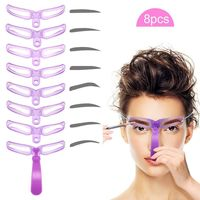 8 in 1 Eyebrow Shaping Stencil $12.99