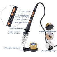 YIHUA 928D-II Solder Iron 3 LED Lamps Digital Display Sleep Protection Adjustable Temperature Electric Soldering Iron