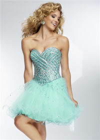 Short Homecoming Dressby Mori Lee 9251