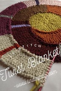 10 Stitch Twist Blanket by Frankie Brown. Fun and easy free knitting pattern.