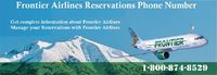 if you getting issues in changing reservation or cancellation of a reservation with Frontier Airlines Talk to Customer Service Executive By Dialing Frontier Airlines Reservations Phone Number 1-800-874-8529. for more info visit https://www.emailcustomersu...