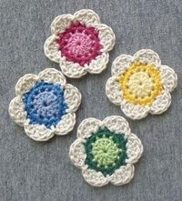Diva Stitches Crochet Blog: Lil' Cute Crochet Flower - GREAT pattern, works up quick and turns out just adorable! Thanks for the wonderful pattern �™�