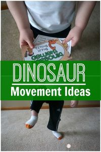 Dinosaur Gross Motor Movements and Brain Break Ideas!