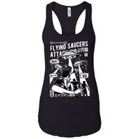 Flying Saucers Attack - Ufo Art - Women's Racerback Tank Top $19.97