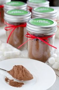 Salted Caramel Hot Chocolate Mix!?! Might have to mix up a batch of this for ME as well! lol.