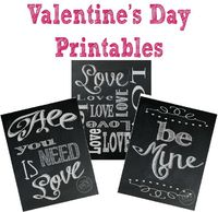 Share the LOVE with 3 Great Valentine's Day Printables - Free