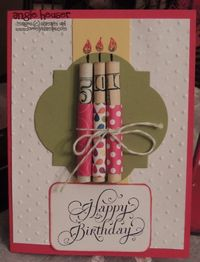 Make A Simple Card ~ Wrap Money With Paper & String, Cut Out A Few Shapes & A Happy B'day Sticker, Cute ~ Color In Flame & Wick ~ Click Here For More Awesome Ideas.