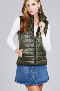 Quilted padding vest $61.52