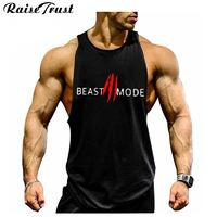 New 2019 fashion cotton sleeveless shirts tank top men Fitness shirt mens singlet Bodybuilding Plus size gymvest fitness men $8.95