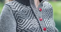 My favourite yarn combined with reverse fair isle.
