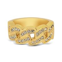 18k Gold Plated Chain Link Ring £2.60