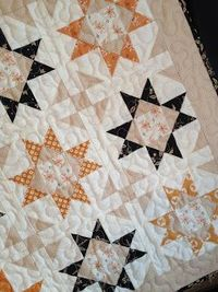 My autumn version of the Mini Shine quilt (Pattern by A Quilting Life); Autumn Decor; Fall colors; mini quilt