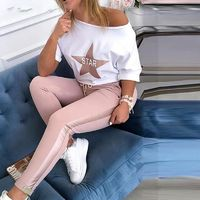 $15.63 Aliexpress - 2020 speed sell through amazon new hot style European and American stars printed letters leisure suit. Buy it from Aliexpress.com