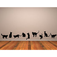 Cats Banner Wall Stickers Animal Wall Decal Art