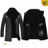 Haute Couture | Patented Men Shearling Leather 2 in 1 Jacket CW808016 | CWMALLS.COM