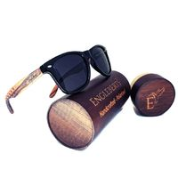 Zebrawood Sunglasses, Stars and Bars With Wooden