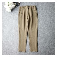 Must-have High Waisted Chiffon Casual Buttons Skinny Jean Long Trouser - Discount Fashion in beenono