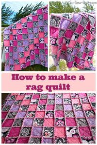 Enjoy lots of snuggly-wuggly goodness! Learn how to make a rag quilt. Includes a video and step by step instructions on how to make a rag quilt.