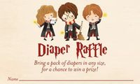 Harry Potter Baby Shower Diaper Raffle Card by DOODLEBOXdesigns