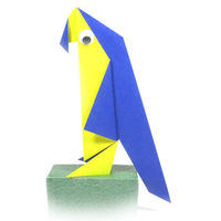 How to make a traditional origami parrot  http://www.origami-make.org/howto-origami-bird.php