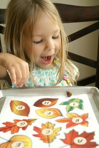 Roll and Say Fall ABC Game for Preschoolers~Includes free printable