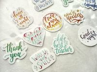 23 Watercolor Quotes Calligraphy Stickers, for journaling, bullet journal, scrapbooking, labels home decor, free shipping