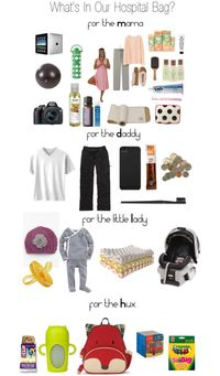 life with the Hux.- whats in our hospital bag for mom and dad