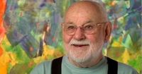 "Eric Carle - talking about and showing his book, ""The Artist Who Painted A Blue Horse."""