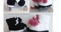 Crochet Pattern - Ice Skate - Hockey / Figure Skate Baby Booties - cute fun pattern, diy, ideas, inspiration
