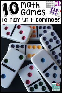 I love finding common items around the house and making games with them. I recently came across a tin of dominoes and put those babies to work! My students LOVE