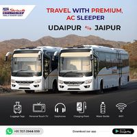 Travel with Premium AC Sleeper from Udaipur to Jaipur 