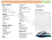 Camping Checklist Printable Plus Tips on How to save on Camping essentials
