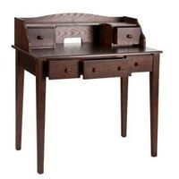 Home Decorators Collection Espresso Computer Desk-HO9238 at The Home Depot. I love this style desk