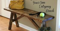 Next DIY project? Build your own entryway bench
