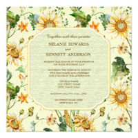 Rustic Beauty Sunflower Wedding collection cards invitations more
