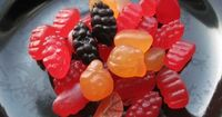 All Juice Homemade Fruit Snacks Recipe: Made from 100% Juice Concentrate, Gelatin and Honey (to taste).