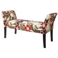 Avington Upholstered Bench with Arms-Red Floral (I don't really like this upholstery, but I like the bench)