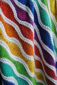 Baby blanket Lizard Ridge. Colors broken up with the white strip really sets it off