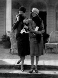 Model at left in a wool suit by Edward Molyneux; the one at right in a two-piece dress by Drecoll 1926 by Edward Steichen