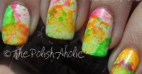 The PolishAholic: Neon Splatter Mani + Tutorial! This actually looks doable :)