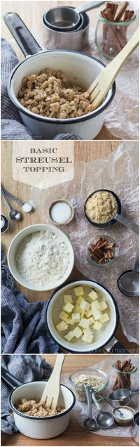 You'll find yourself using this Basic Streusel Recipe over and over again! It's so simple to make, in just one bowl, and it's great on everything from muffins a