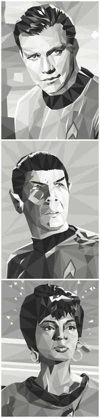 art illustrations, spock and cats.