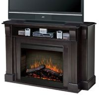 This would be PERFECT for our living room! media console with built-in electric fireplace ... want!