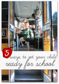 Easy steps for parents to follow to get their kids ready for school, preschool, and kindergarten.