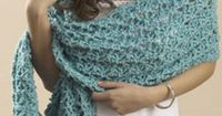"""Learn <a href=""""http://www.favecrafts.com/Crochet-Scarf-Patterns/17-Shawls-and-Wraps-An-Easy-Crochet-Wrap-Pattern"""" target="""" blank"""" title=""""Crochet Wrap Pattern"""">h"""