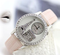 Fantastic Crystal Eiffel Tower Women's Fashion Watches 10Colors