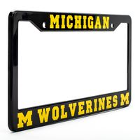 Michigan Wolverines Black License Plate Frame - NCAA Car Accessory - Slim Design $16.99