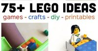 We are crazy over all these Lego ideas! I've got container after container full of Lego's at my house that my kids could be using in so many fun ways.