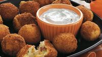 "Serve these cheesy potato balls made using Progresso® plain bread crumbs �€"" perfect Halloween appetizers to serve a crowd."