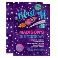 Space Birthday Invitation Outer Space Party - invitations custom unique diy personalize occasions